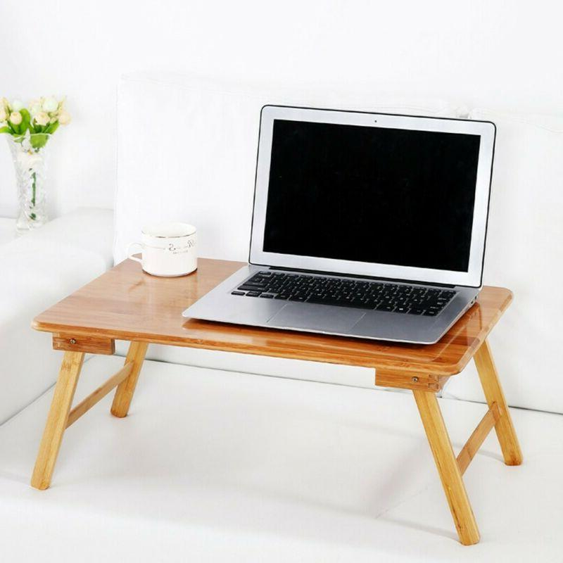 bamboo laptop tray desk foldable lap table