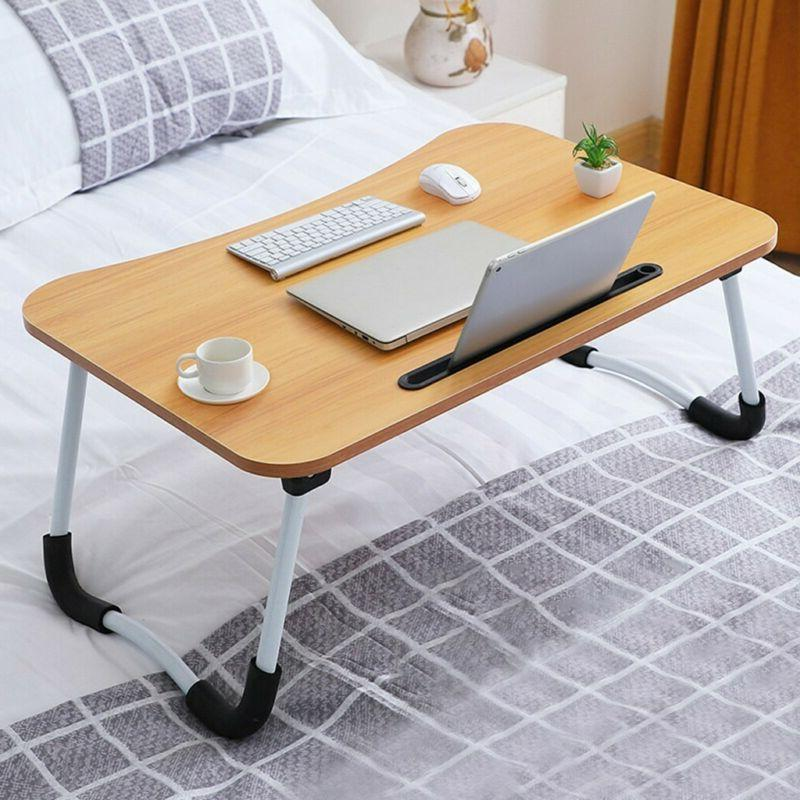 bed tray table with folding legs breakfast