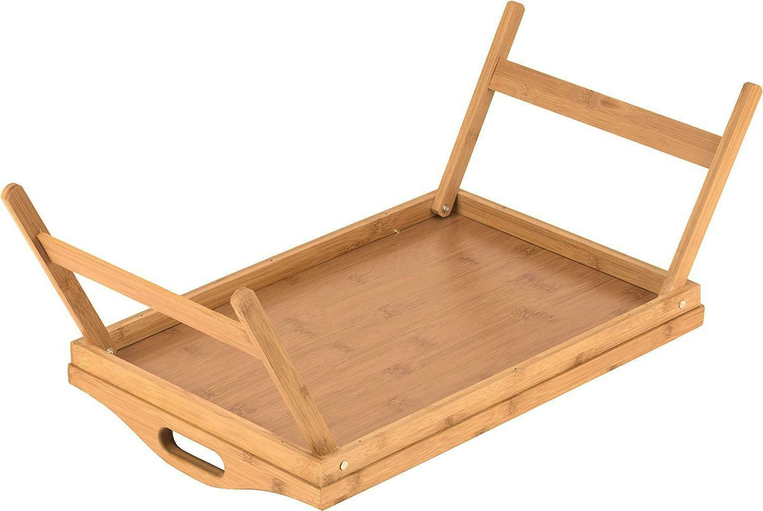 Bed Tray folding legs, tray Bamboo table bed