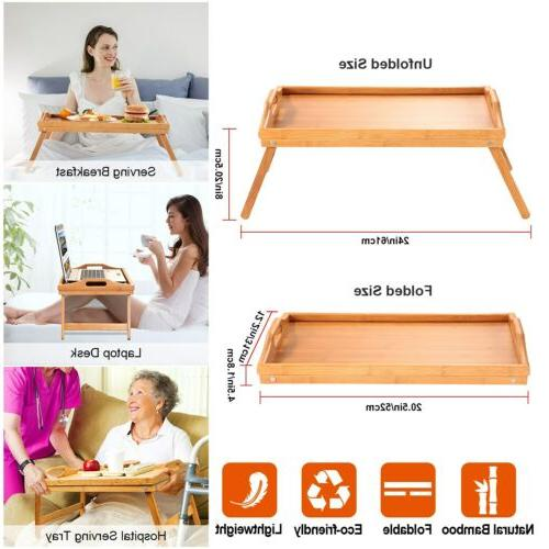 Breakfast In Bed Tray Lap Laptop Serving Eating