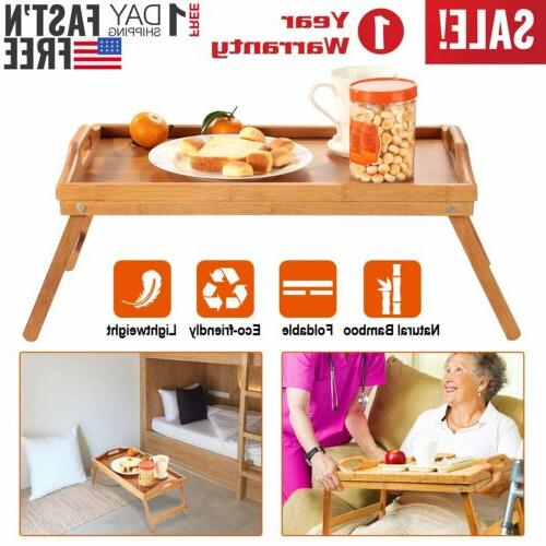 breakfast in bed table tray bamboo foldable