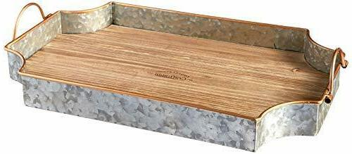 circleware cooperstown wooden serving tray home kitchen