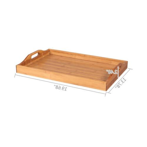 High Serving Tray with Breakfast Wood Kitchen