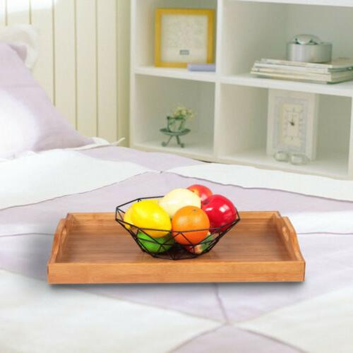 high grade wooden serving tray with handles