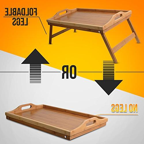 Lap Bed Table – Folding and & Breakfast Tray for Study Sofa, Floor or