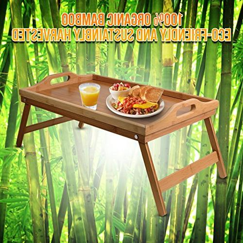 Lap Bed Table Bamboo Lap Desks for and as Dinner & in Tray Eating, TV Study in