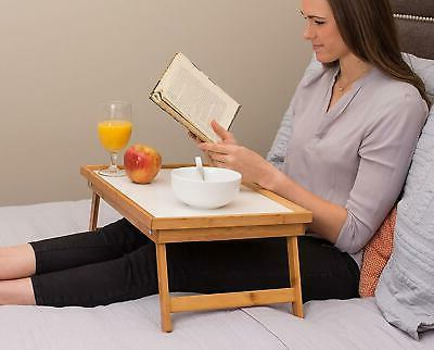 Luxurious In Bed Bamboo Tray / Laptop Floor Table New