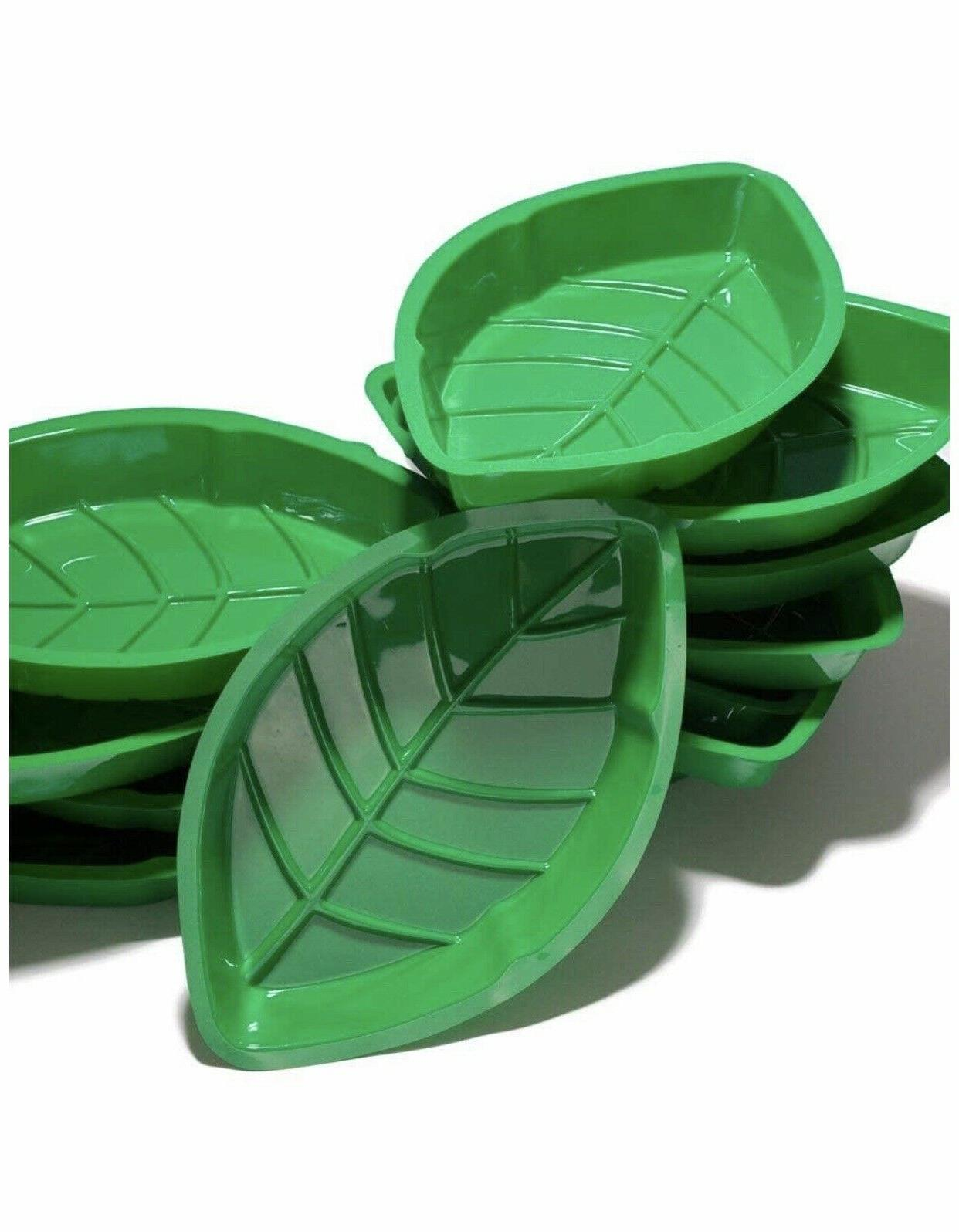 NEW 1 Plastic Palm Trays Party