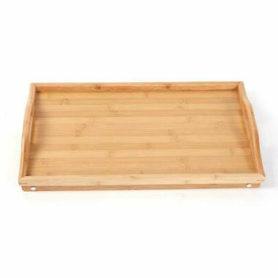 New Bed Tray Serving Folding Leg w/Portable Handle