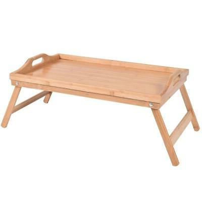 New Bamboo Breakfast Bed Tray Serving Laptop Table Folding L