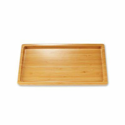 organic bamboo tea serving tray rounded edges