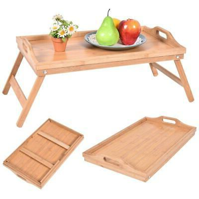 Bamboo Breakfast Bed Laptop Portable