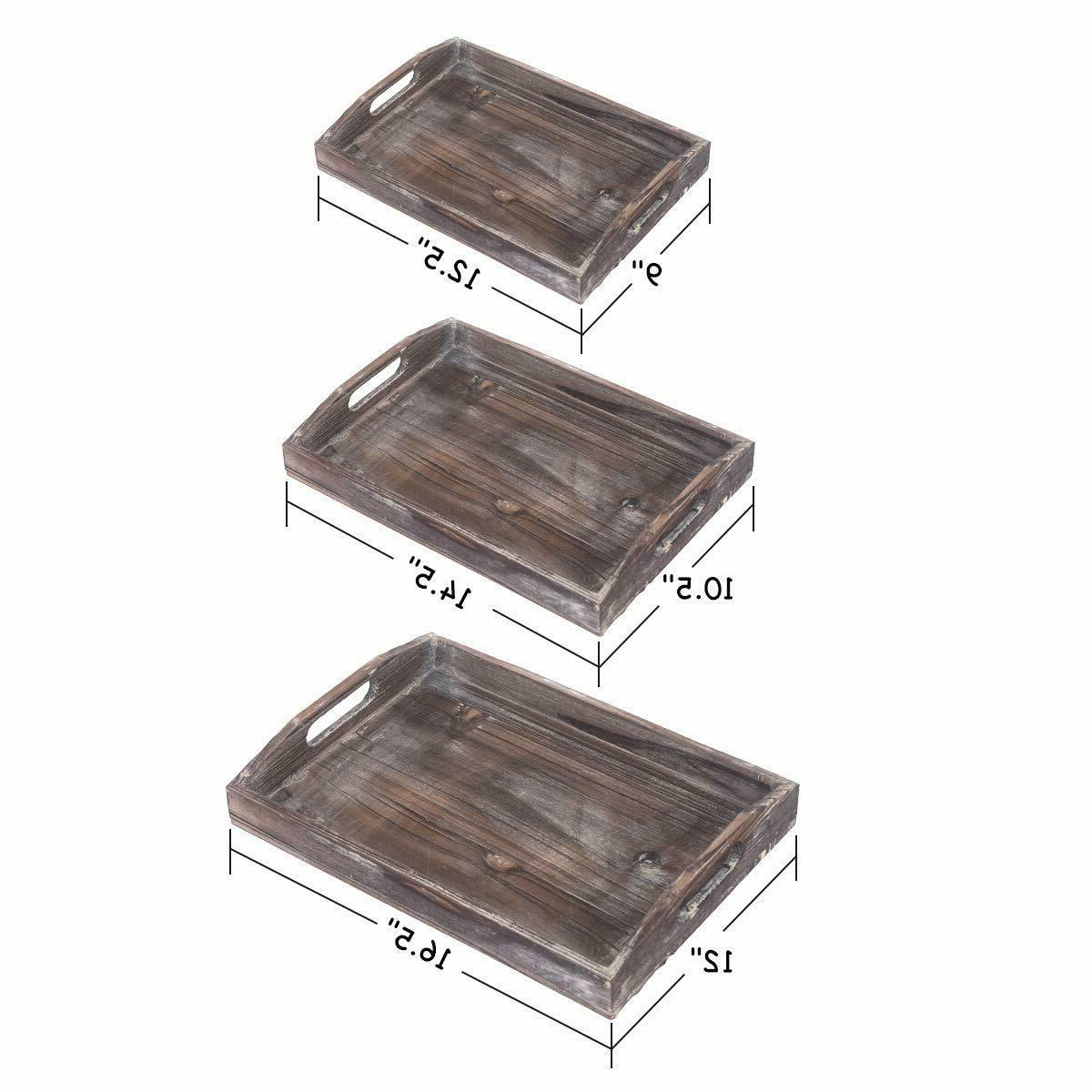 Ottoman Wooden Serving Trays Rustic 3