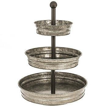 Rustic 3 Tier Serving Stand Tray Storage NEW