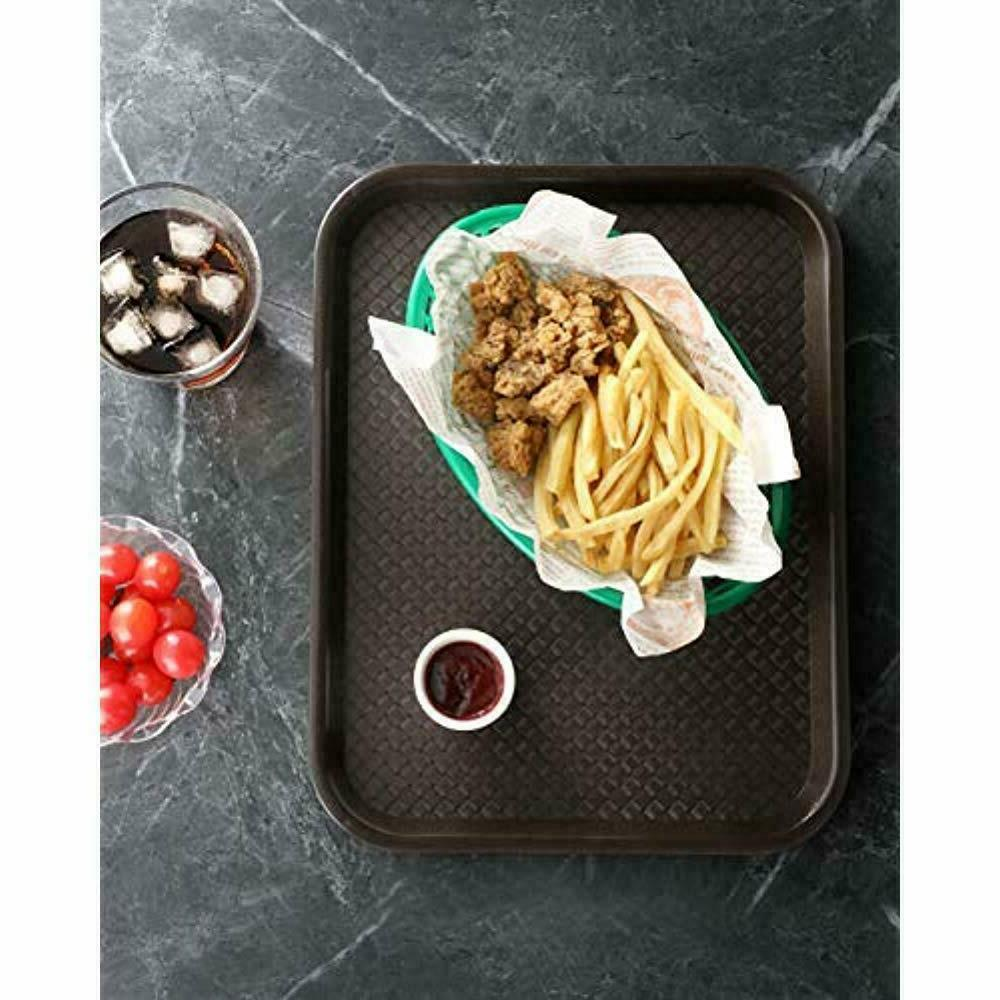 Serving 24395 Brown Plastic Fast Tray, 10 By Of 12