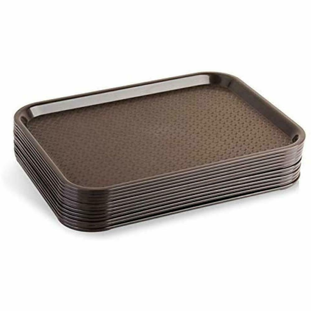 serving trays 24395 brown plastic fast food