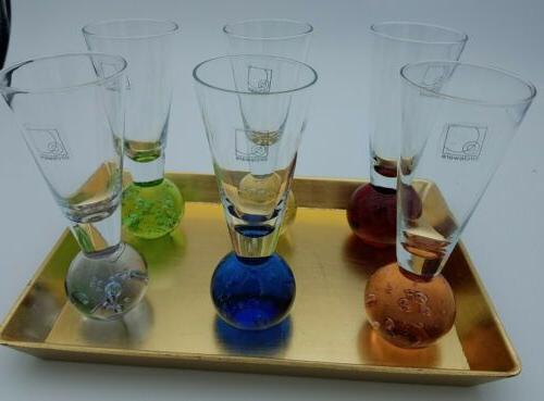 Set of 6 Colorful ball Shot with