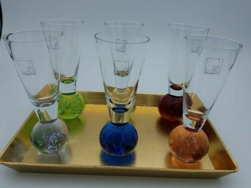 Set of Colorful ball Fireball Shot with tray