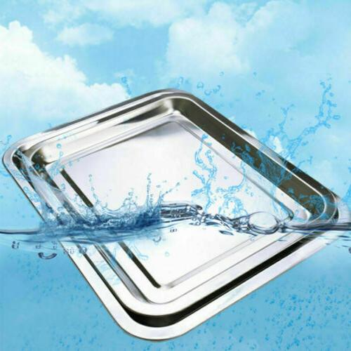 Stainless Steel Plate Serving Tray Dinner