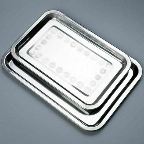 Stainless Serving Tray Dish Container Dinner Tableware