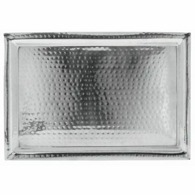 stainless steel serving tray with hammer finish