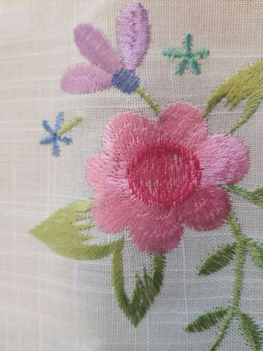 DII White Floral Embroidered Topper/Napkin/Tray New