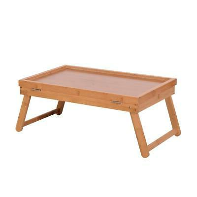Wood Color Bed Tray Desk Table Food Dinner