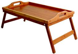 Lap Desk Bed Tray Table – Bamboo Folding Lap Desks for Adu