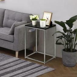 New TV Tray Table Set Steel Stand End Home Furniture Serve S