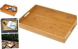 Lipper International 8865 Solid Bamboo Wood Serving Tray, 19