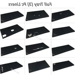 Inserts Liners for Jewelry Case Tray Liners Drawer Liners Bl