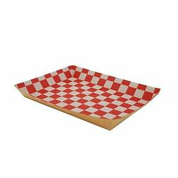 """Southern Champion Lunch Trays, Red/White, 10.5"""" W x 7.5"""" D x"""
