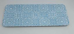 Porto Melamine Indoor Outdoor BBQ Serving Tray in Blue White