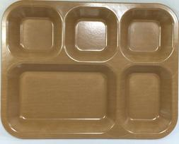 Military Mess Tray, Bakelite style Melamine 5 compartment