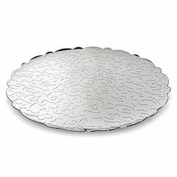 "Alessi MW07""""Dressed"" Round Tray, Silver"