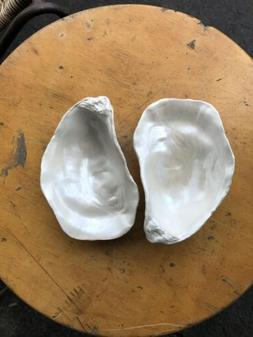 NEW Creative Co-op Oyster Shell Trinket Jewelry Tray Dish  P