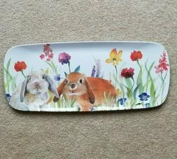 New Easter Bunny Rabbit Spring Melamine Sandwich Tray Approx