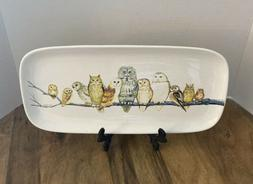 Owls On A Branch Trinket Dish/Serving Tray Creative Co op We