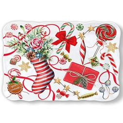 Michel Design Works Peppermint Candy Cookie Tray Melamine Se