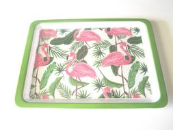 "Pink Flamingo 10"" x 14"" x 1/2"" Fun Sturdy Plastic Rectangula"