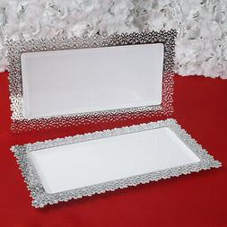 """Plastic 15.5"""" SERVING TRAYS Disposable TABLEWARE Party Weddi"""