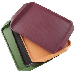 "Qsbon Plastic Fast Food Trays for Eating, 17"" x 11.8"", Set o"