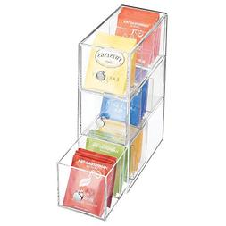 mDesign Plastic Kitchen Pantry, Cabinet, Countertop Organize