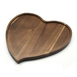 Premium Acacia Wood Heart Shape Romantic Wedding Serving Tra