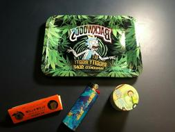 """Premium Backwoods Rolling Tray """"Rick and Morty"""" Get Riggity"""