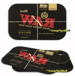 RAW Papers BLACK Magnetic ROLLING TRAY COVER + RAW BLACK TRA