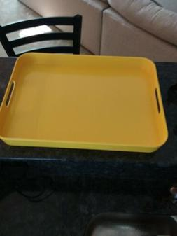 RE Target Large Serving Tray with Handles Melamine Bright Ye