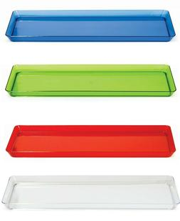 Rectangle Translucent Colored Plastic Food Dessert Snacks Se