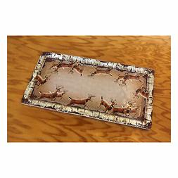 River's Edge Products Tray Melamine 18in x 9.5in - Deer
