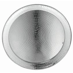 HUBERT Metal Serving Tray with Hammered Finish Round Stainle